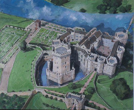 Raglan Castle, about 1620