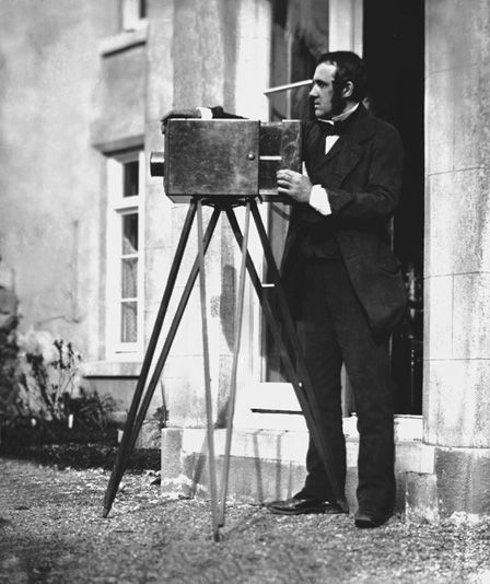 John Dillwyn Llewelyn with his calotype camera at Penllergare, 1853