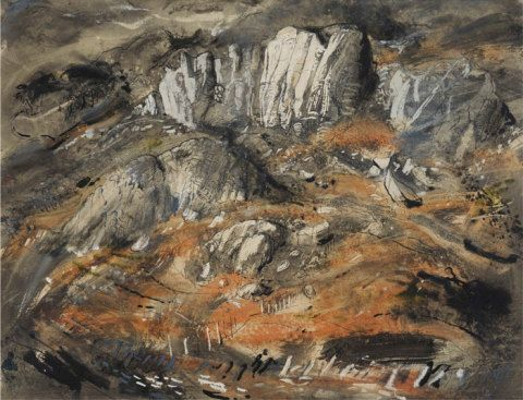 Rocks at Capel Curig, John Piper