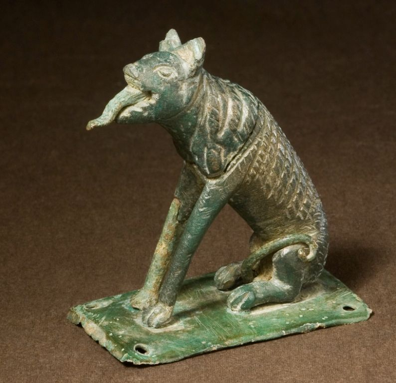 Detailed miniature statue of a dog