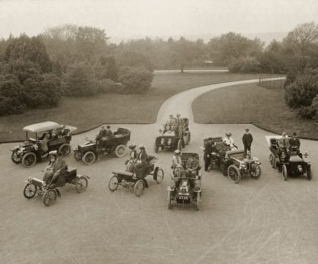 First meeting of the Automobile Club of North Wales at Treborth Hall, Bangor