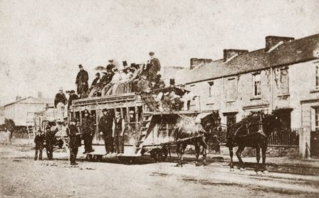Horsedrawn railway carriage on the Mumbles Railway