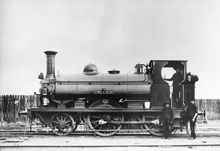 Rhymney Railway 'B' class locomotive No.7 2-4-0ST