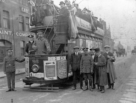 A tram used for promoting enlistment into the British army