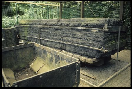 15-ton block of coal at Bedwellty Park.