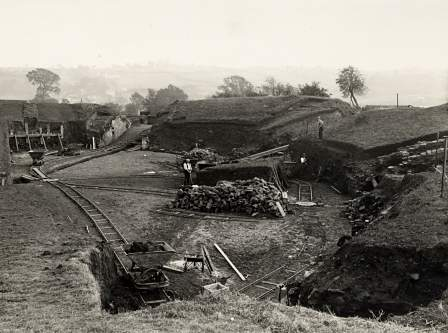 Sir Mortimer Wheeler's excavations at the Caerleon Roman amphitheatre.