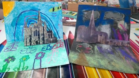 Mini masterpieces created at Constable Easter workshop