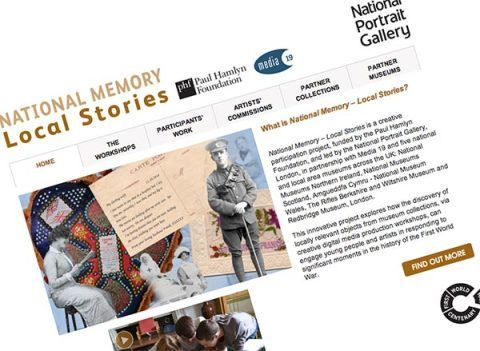 the National Memory – Local Stories website