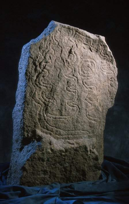 Decorated stone