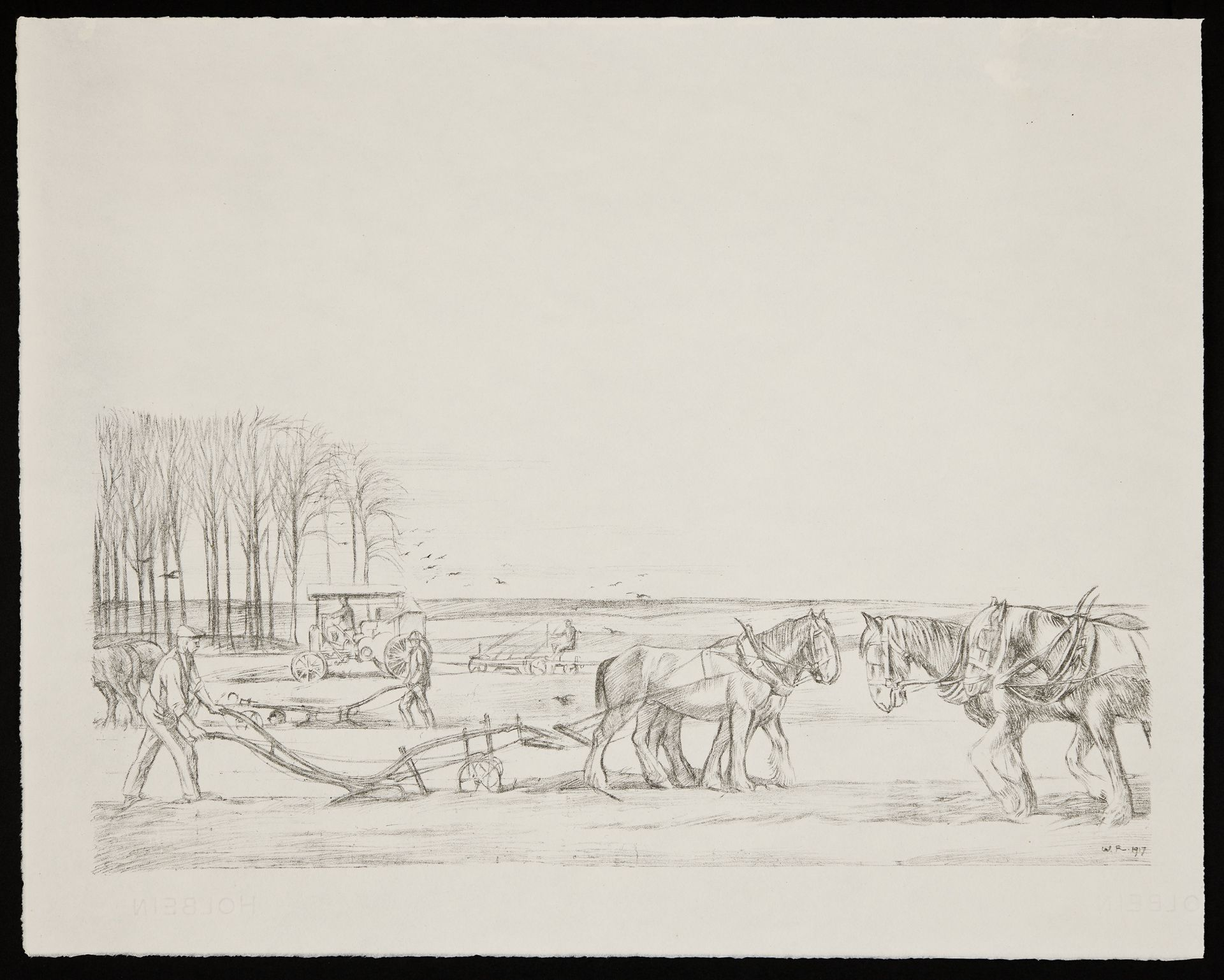 Ploughing - William Rothenstein