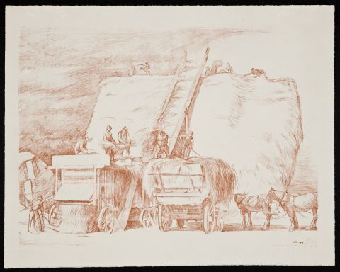 Threshing - William Rothenstein