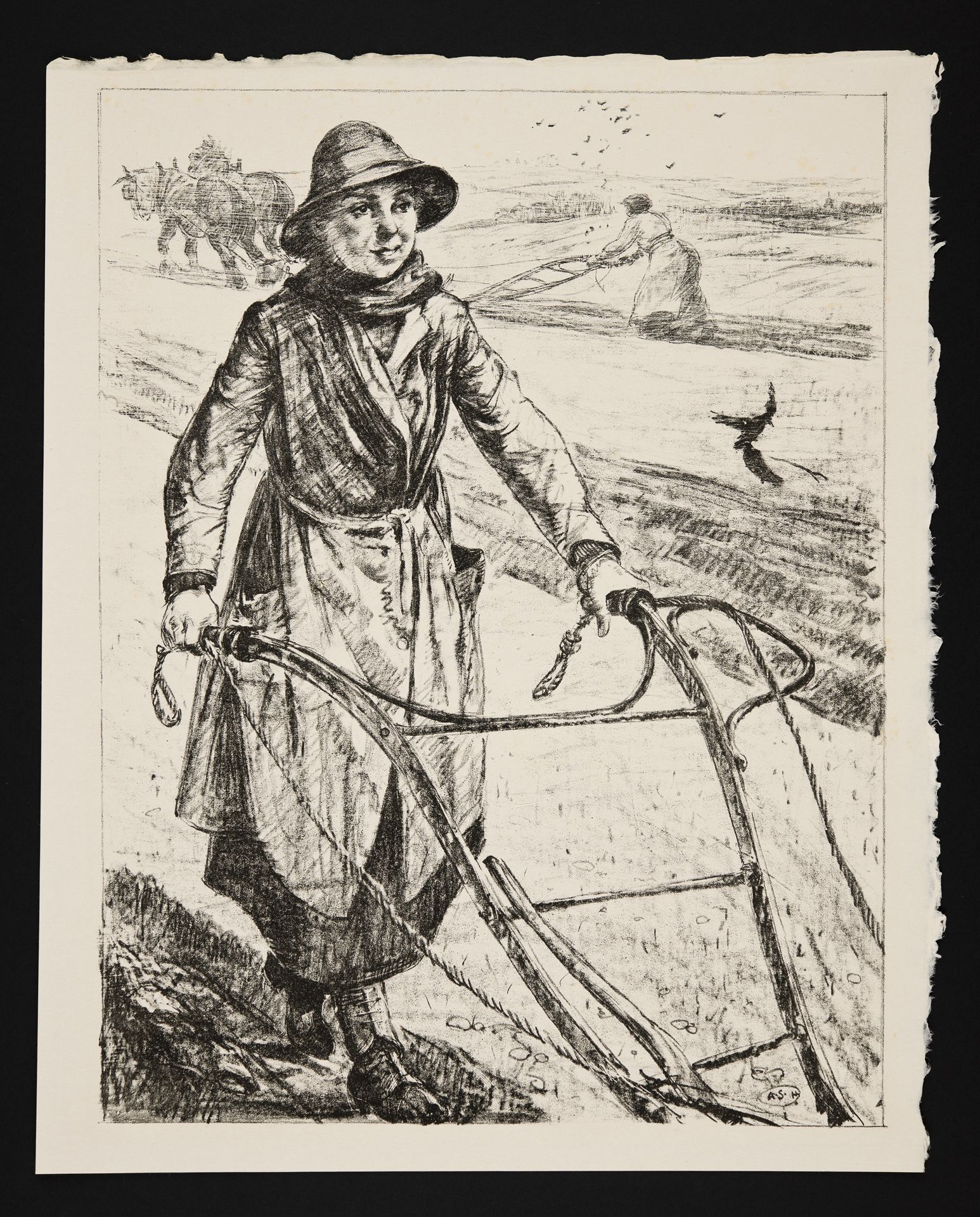 On the Land: Ploughing - A. S. Hartrick