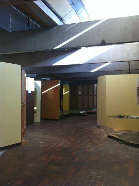 The Agricultural Gallery emptied and ready for its transformation.