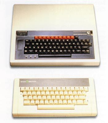 The BBC model B (top) and the Acorn Electron.