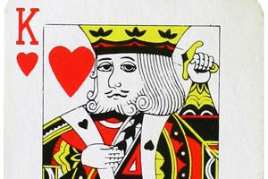 The King of Hearts as represented in a deck of playing cards