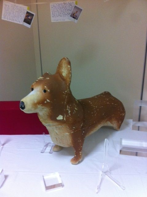 A polystyrene corgi pops up at the museum.
