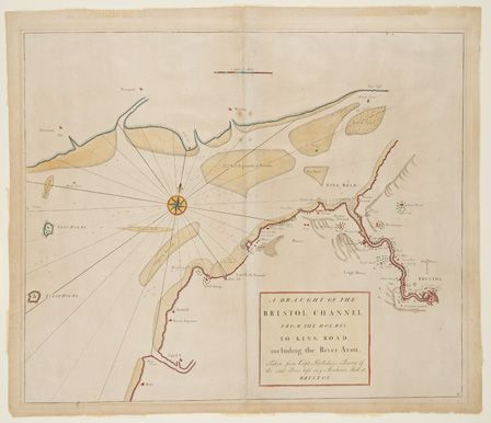 Navigation chart of the Bristol Channel, 1744
