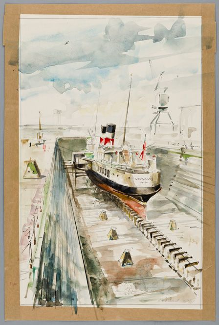 Paddle Steamer WAVERLEY in dry dock