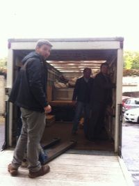 Loading the van with the team