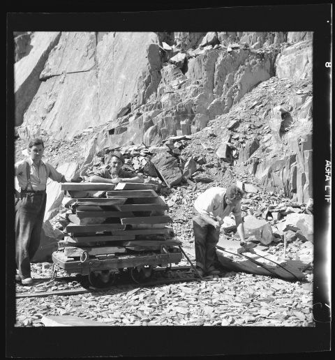 Images of  the Slate Industry