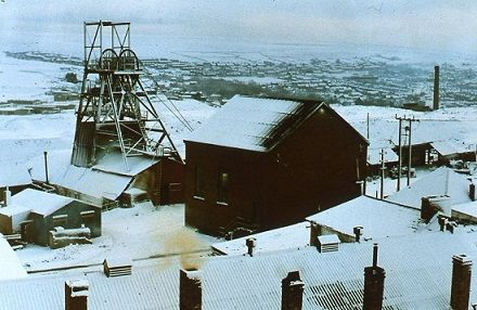 Big Pit in the snow, 1978