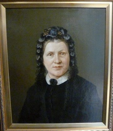 Oil painting of Susannah Jenkins, 1879