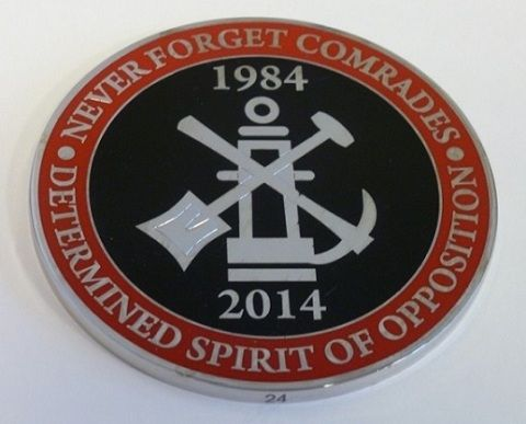 30th anniversary of the Miners' Strike medallion 1984 - 2014