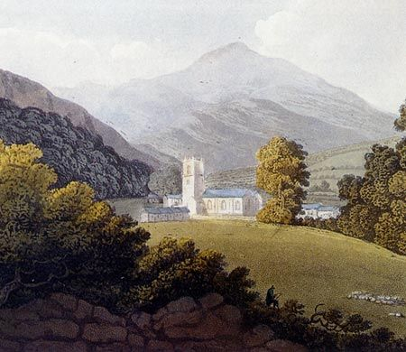 A view of Llangollen from Pugh's Cambria Depicta