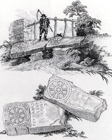 11th century cross-slabs near Margam, from Donovan's Excursions (1805)