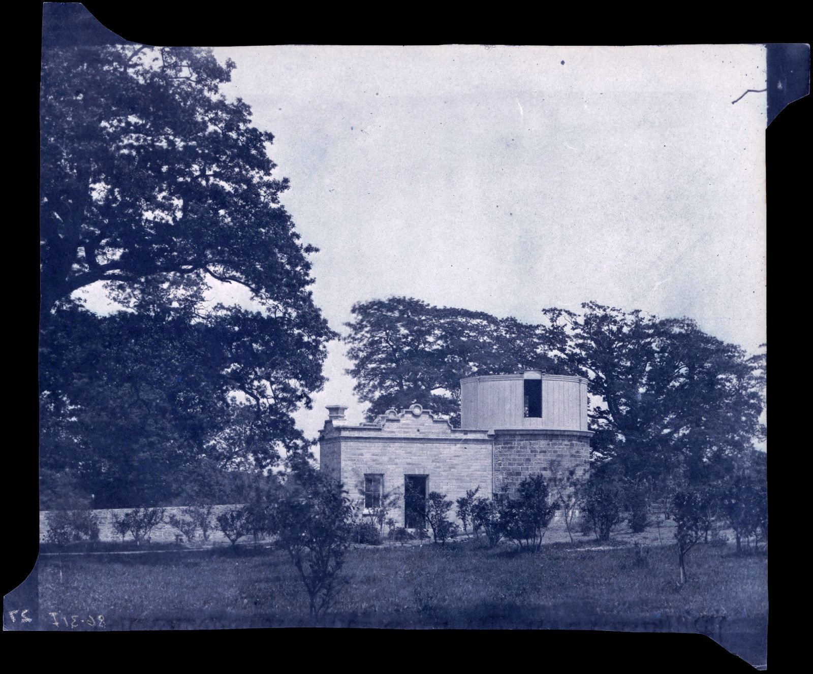 Calotype paper negative of the observatory at Penllergare, 1850s