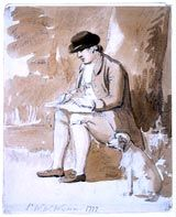 Paul Sandby (1725-1809); Sir Watkin Williams-Wynn Sketching, c.1777
