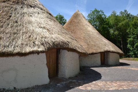 A view of both roundhouses