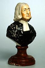 Earthenware bust of John Wesley, South Wales Pottery c. 1840-55