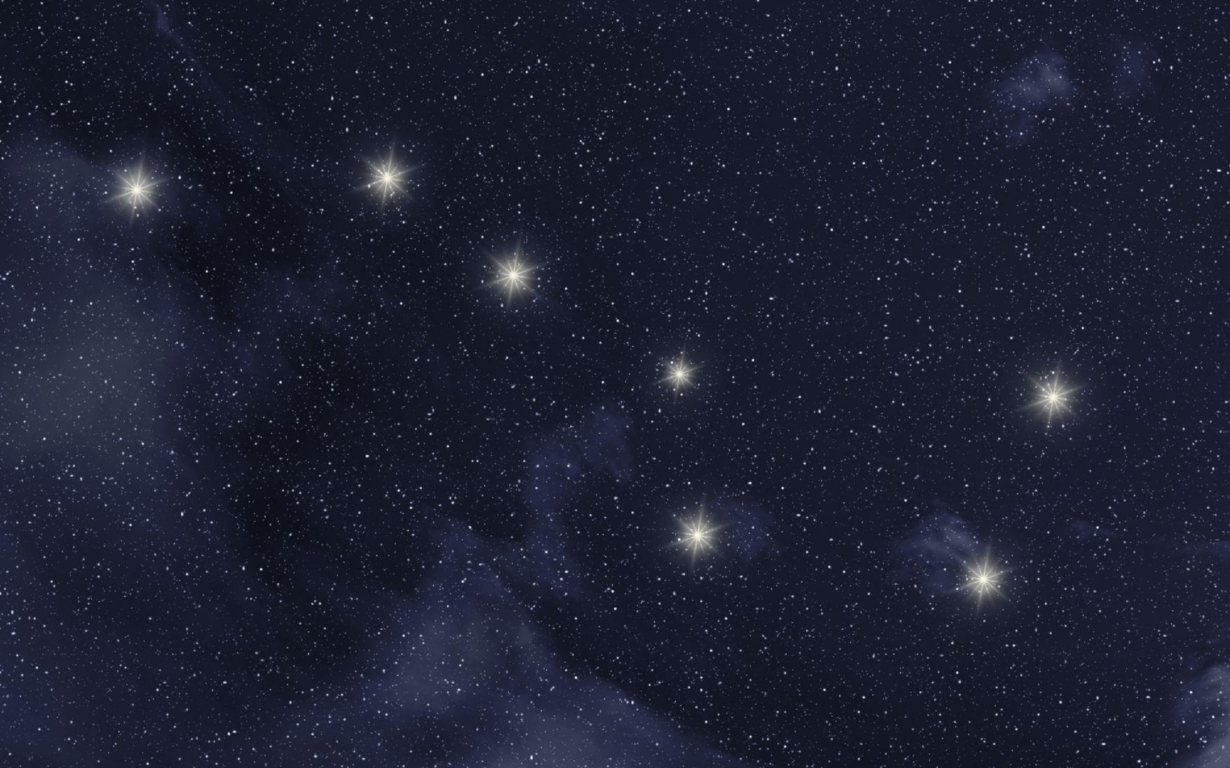 мало звезд на небе картинки