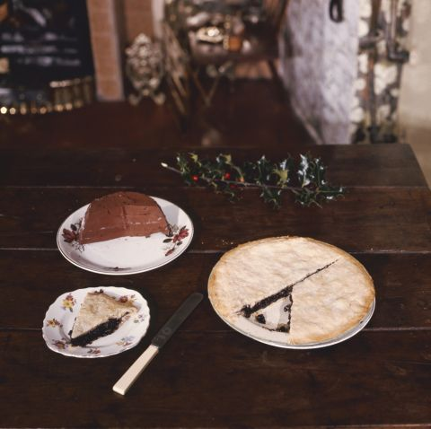 Gooseblood tart, a Christmas delicacy in parts of Montgomeryshire.