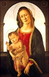 Workshop of Sandro Botticelli (1447-1510); Virgin and Child with a Pomegranate, c.1485
