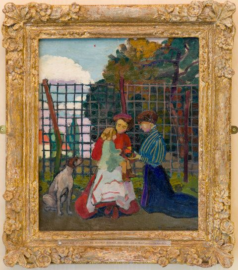 In a Garden, 1908, oil on canvas. (DA007037)