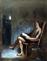 Honoré Daumier (1808-1879); Don Quixote Reading, 1865-7