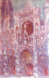 Claude Monet (1840-1926); Rouen Cathedral: setting sun (Symphony in Grey and Pink), 1892-4