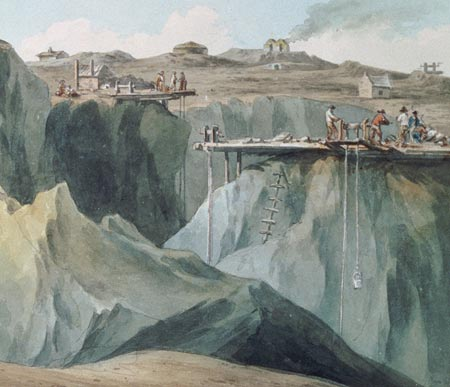 Junction of Mona and Parys Copper Mine as depicted in 1790.