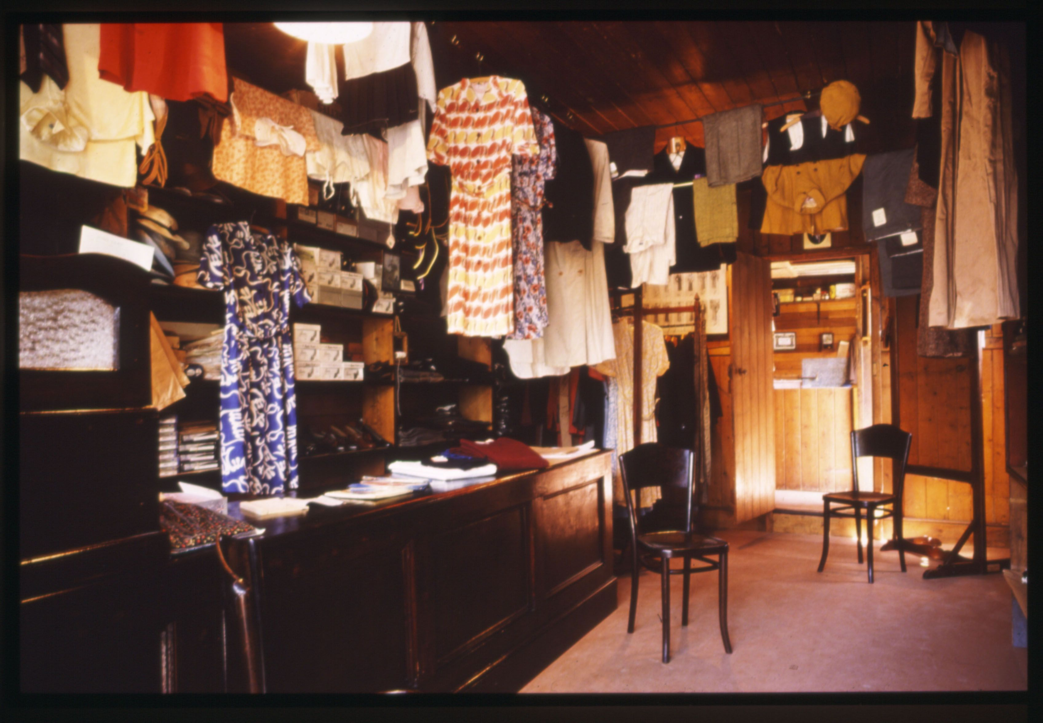 Interior of D. Thomas's Tailor's shop at St Fagans National Museum of History