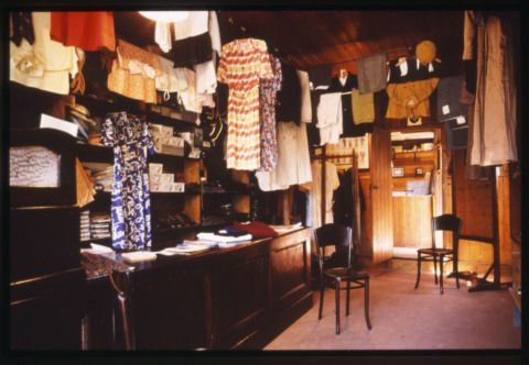 Interior of D. Thomas's Tailor's shop at St Fagans National History Museum