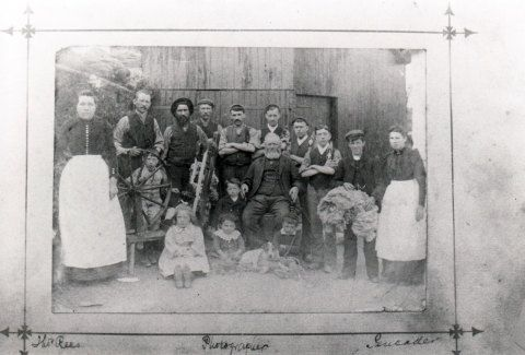 Goodwin Family and Staff, circa 1900.