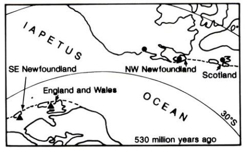 Stage one in the evolution of the north Atlantic area.