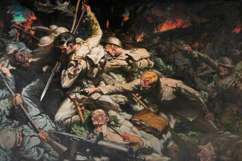 ww1 battle at Mametz, showing the Welsh Division in combat