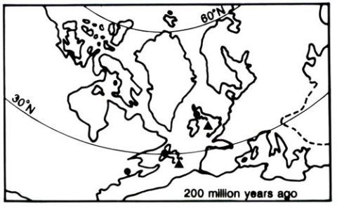 Stages two in the evolution of the north Atlantic area.