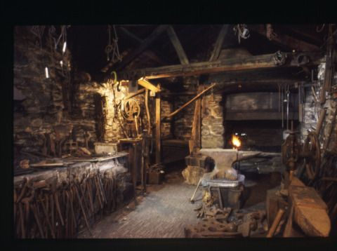 Interior view of the Smithy at St Fagans National History Museum