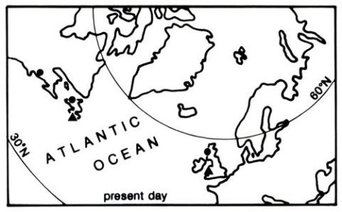 Stage three in the evolution of the north Atlantic area.