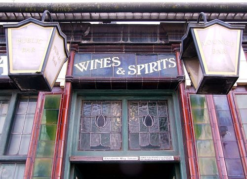 The tiles on the front of the Vulcan are one of the pubs most distinctive features.
