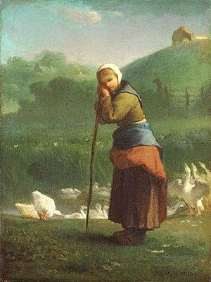 Jean-François Millet (1814-1875), The Goose Girl at Gruchy, oil on canvas, 1854-6.